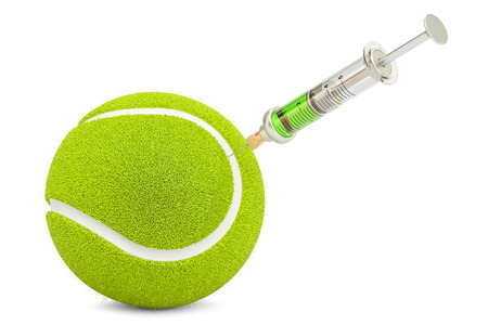 Doping cases in tennis concept, 3d rendering