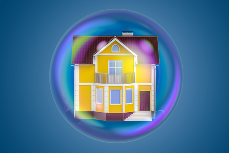 Property Bubble concept, 3D rendering