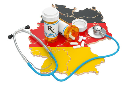 Healthcare in Germany concept, 3D rendering isolated on white background Archivio Fotografico