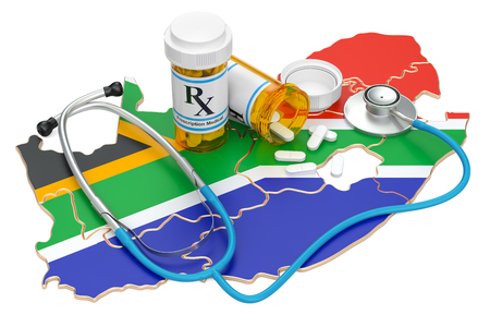Healthcare in South Africa concept, 3D rendering isolated on white background