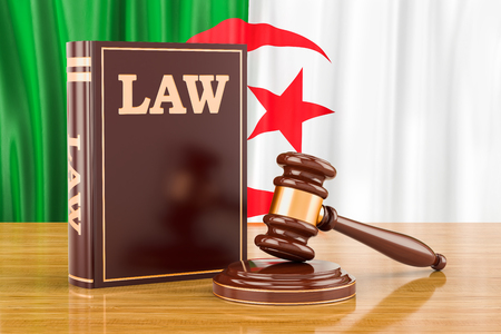 Algerian law and justice concept, 3D rendering