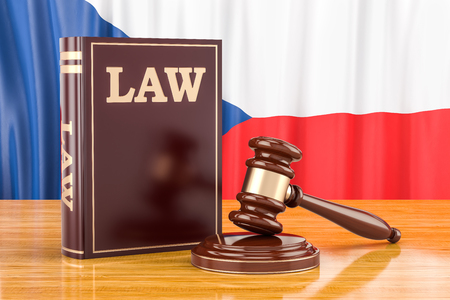 Czech Republic law and justice concept, 3D rendering