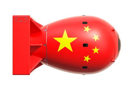 Concept d'arme nucléaire chinoise, rendu 3d Banque d'images