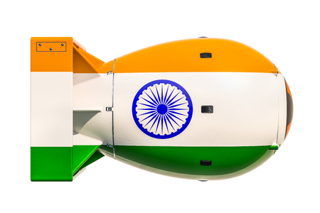 Indian nuclear weapon concept, 3D rendering