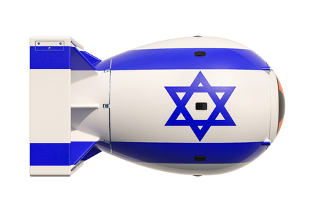 Israeli nuclear weapon concept, 3D rendering