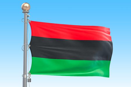 Pan-African flag, 3D rendering
