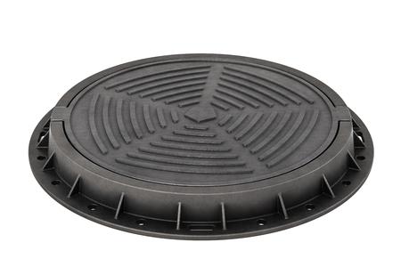 Manhole, 3D rendering isolated on white background