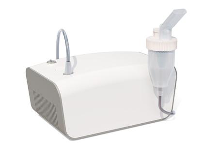 Medical inhaler, nebulizer. 3D rendering isolated on white background Stock Photo