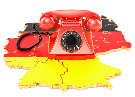 Communication services in Germany, 3D rendering isolated on white background Stock Photo