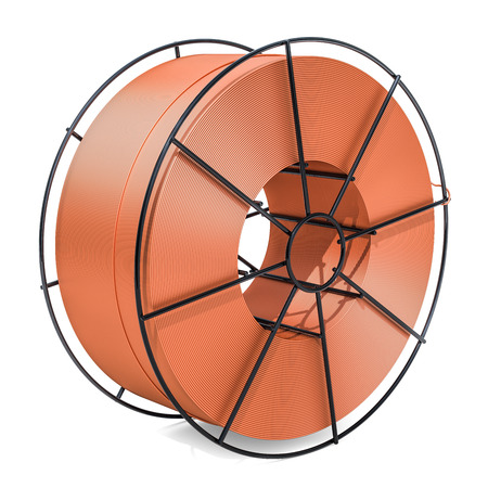 Copper Soldering, Welding Wire Spool. 3D rendering isolated on white background