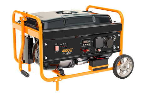 Gasoline Generator with frame and wheels.