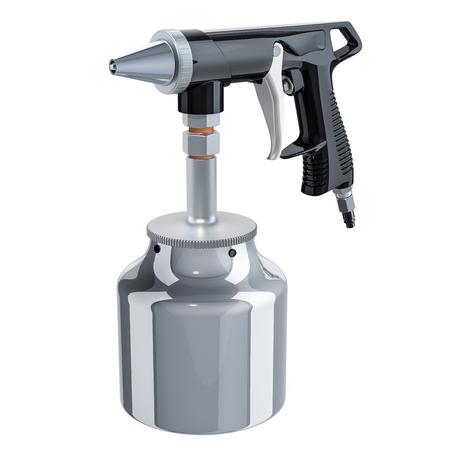 Portable Sand Blaster Gun, 3D rendering isolated on white background