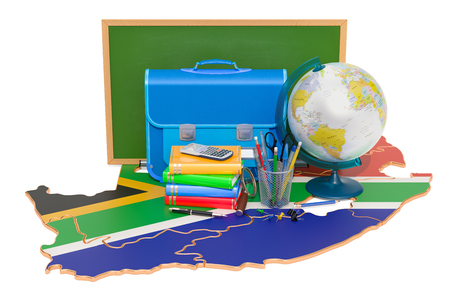 Back to school or education in South Africa concept, 3D rendering Imagens
