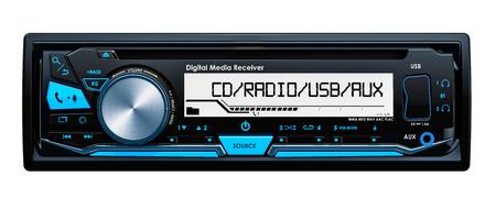 Car digital media receiver front view, 3D rendering
