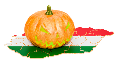 Halloween in Hungary concept, 3D rendering isolated on white background