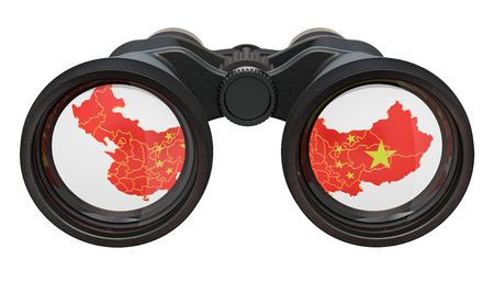 Espionage in China concept, 3D rendering isolated on white background Stock Photo