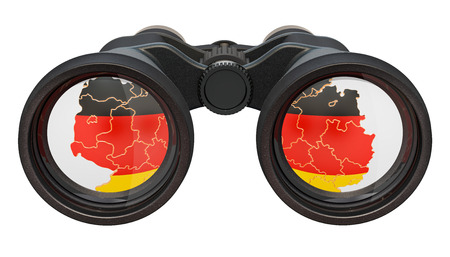 Espionage in Germany concept, 3D rendering isolated on white background Stock Photo