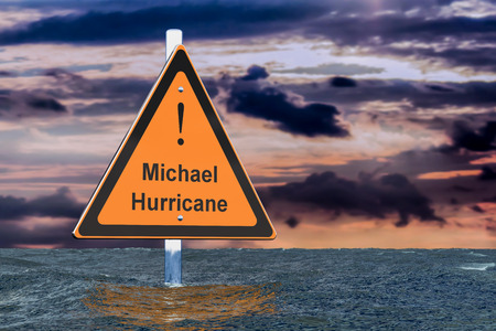 Hurricane Michael, flood concept. 3D rendering 스톡 콘텐츠