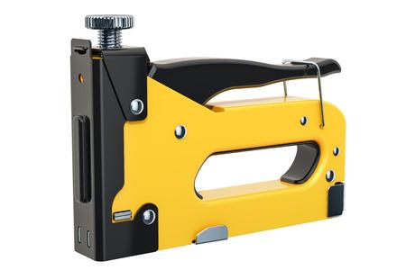 Staple gun, 3D rendering isolated on white background