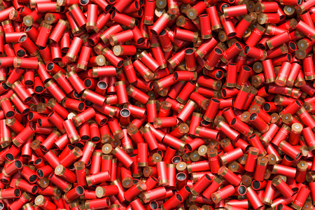 Background from shotgun shells, 3D rendering