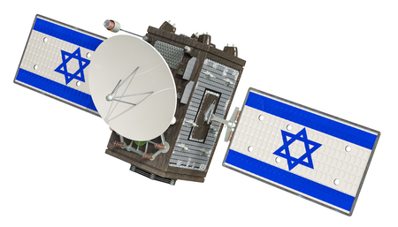 Satellite of Israel, 3D rendering isolated on white background