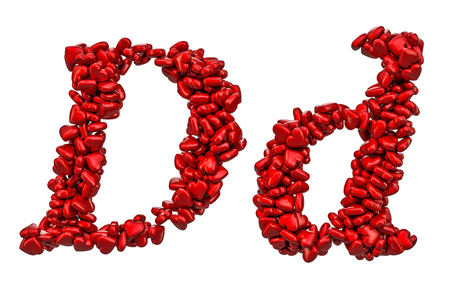 Letter D Love Stock Photos And Images 123rf