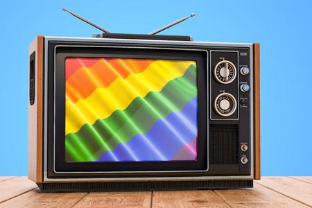 Gay tv concept, 3D rendering Banco de Imagens