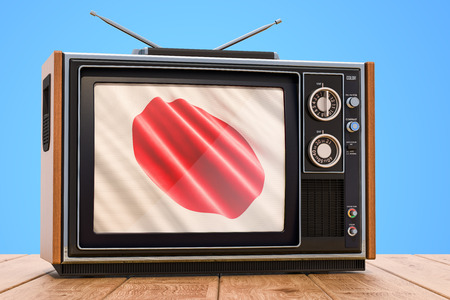 Japanese Television concept, 3D rendering