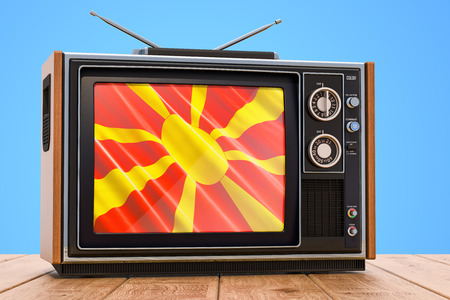 Macedonian Television concept, 3D rendering