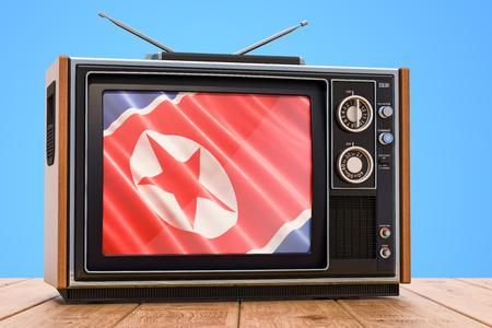 North Korea Television concept, 3D rendering
