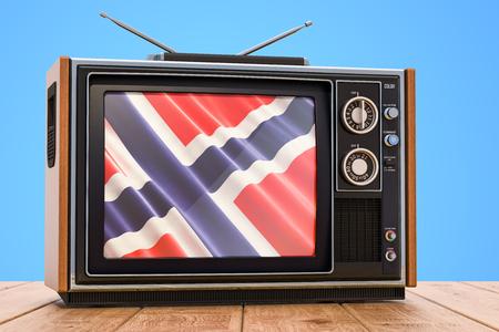 Norwegian Television concept, 3D rendering