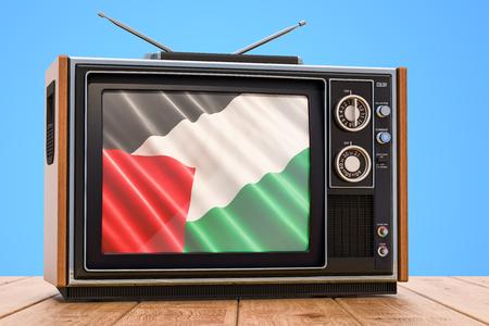 Palestinian Television concept, 3D rendering Banco de Imagens
