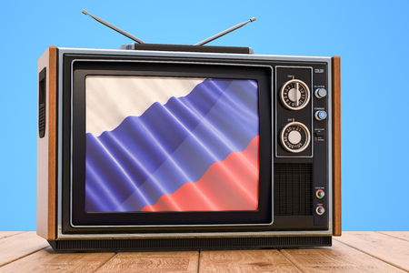 Russian Television concept, 3D rendering Banco de Imagens