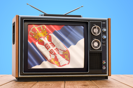 Serbian Television concept, 3D rendering
