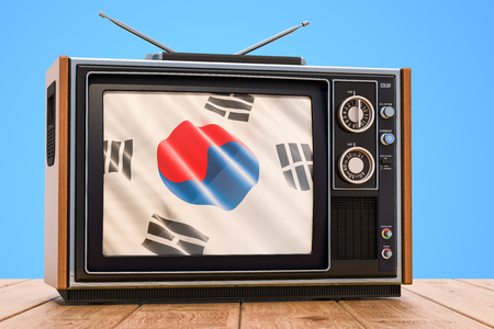 South Korea Television concept, 3D rendering