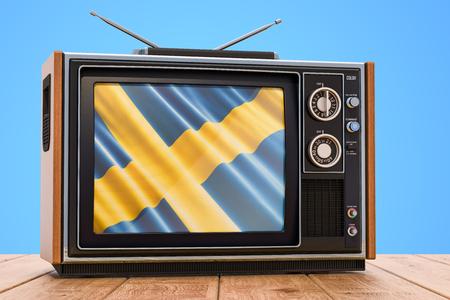 Swedish Television concept, 3D rendering Banco de Imagens