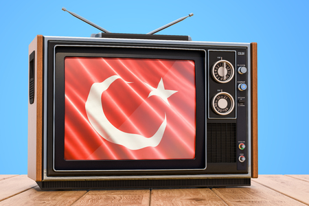Turkish Television concept, 3D rendering
