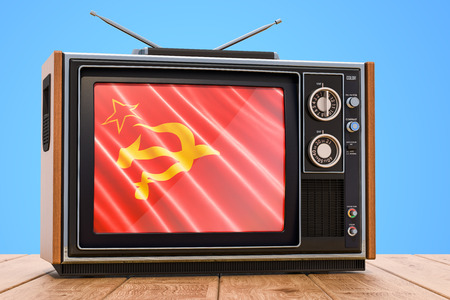 USSR Television concept, 3D rendering