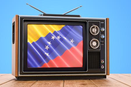 Venezuelan Television concept, 3D rendering Banco de Imagens