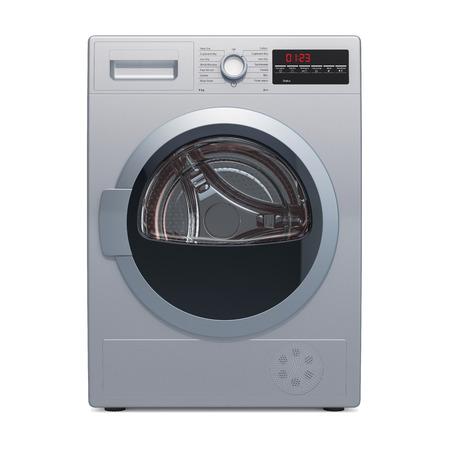 Wäschetrockner, 3D-Rendering auf weißem Hintergrund Standard-Bild