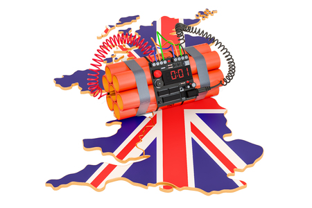 Terrorist Attacks in the Great Britain concept. 3D rendering isolated on white background