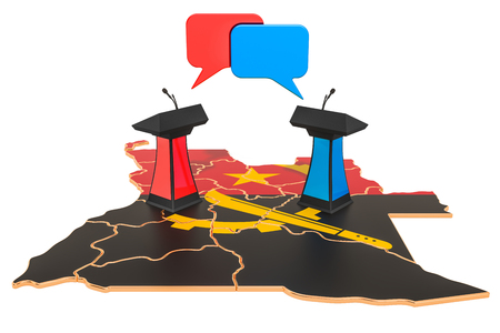 Angolan Debate concept, 3D rendering isolated on white background