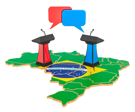 Brazilian Debate concept, 3D rendering isolated on white background