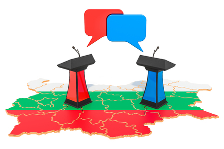 Bulgarian Debate concept, 3D rendering isolated on white background