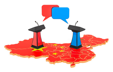 Chinese Debate concept, 3D rendering isolated on white background