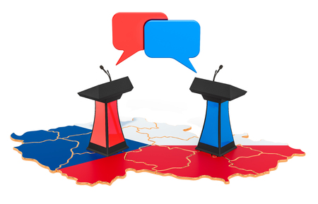 Czech Republic Debate concept, 3D rendering isolated on white background