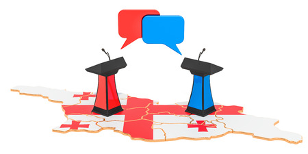 Georgian Debate concept, 3D rendering isolated on white background