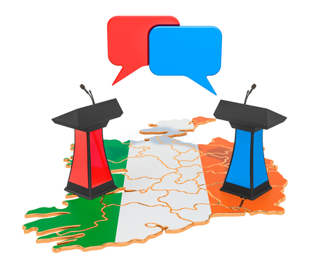 Irish Debate concept, 3D rendering isolated on white background