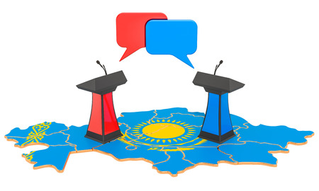 Kazakh Debate concept, 3D rendering isolated on white background Stock Photo