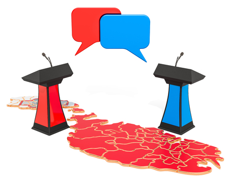 Malta Debate concept, 3D rendering isolated on white background